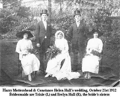 Harry Mottershead and Contance Helen Hall's Wedding, October 21st 1912