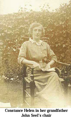 Constance Helen in her grandfather John Seel's chair