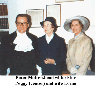 Peter and Lorna Mottershead and Peter's sister Peggy
